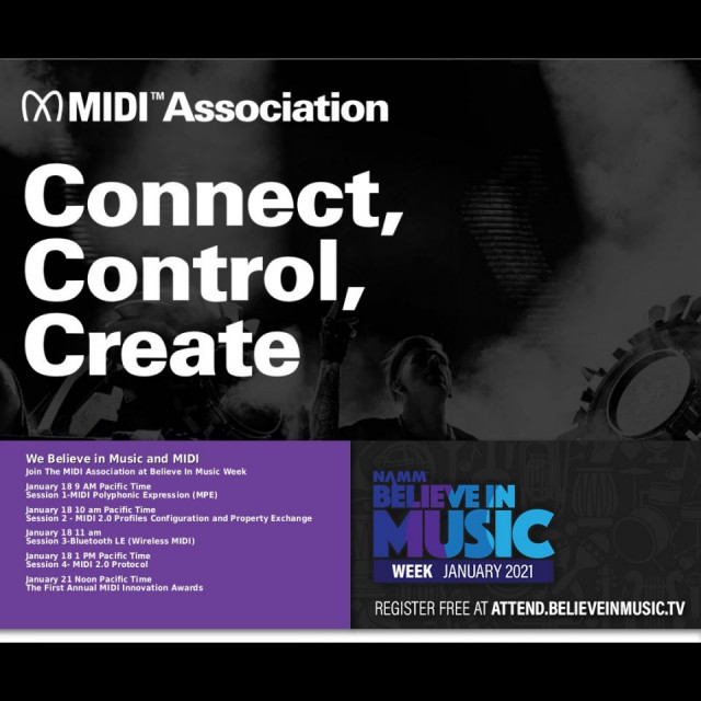 The MIDI Association at NAMM's Believe In Music Week 2021