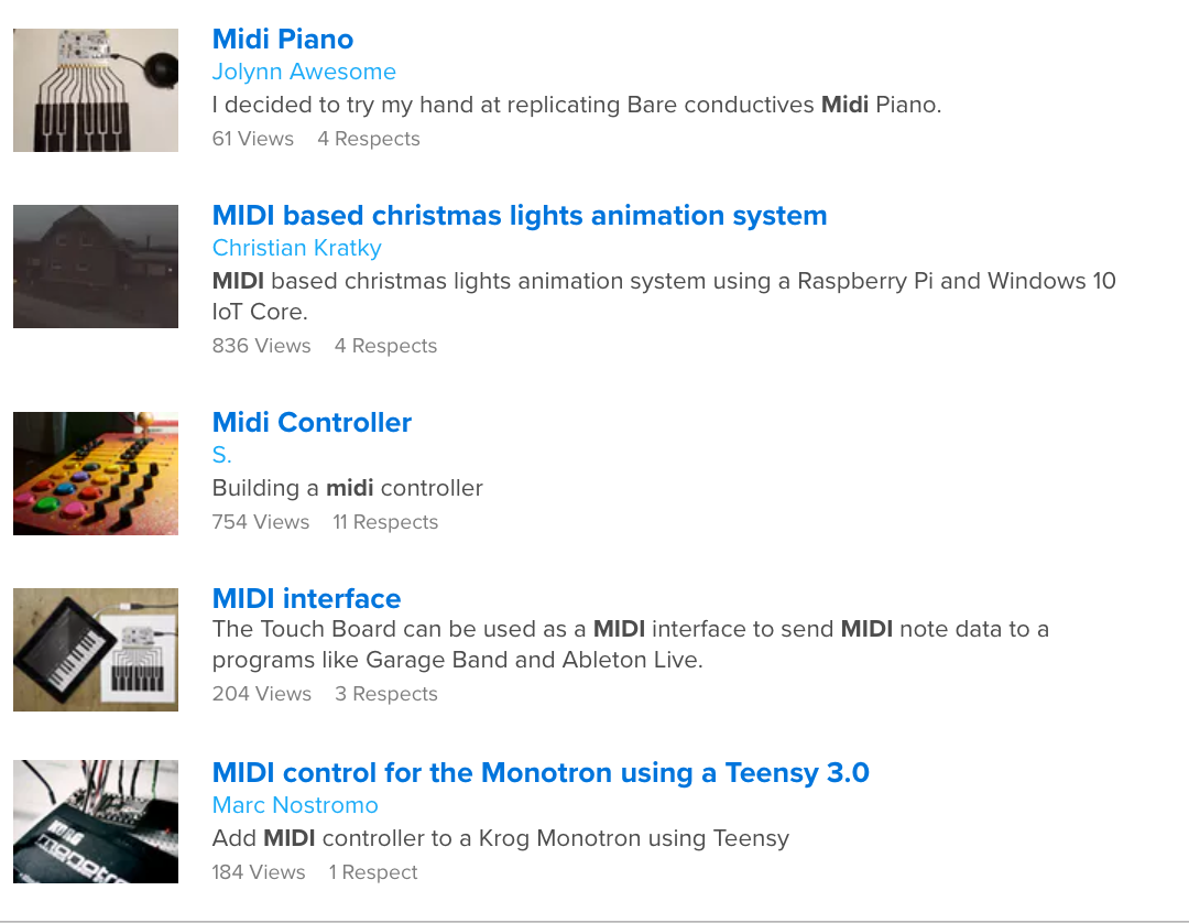 THE TOP MIDI DIY RESOURCES ON THE WEB -