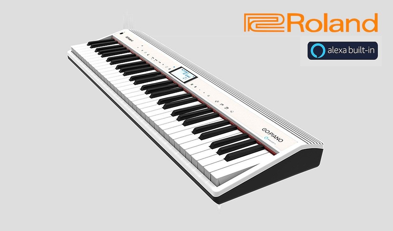 Roland GO:PIANO with Alexa Voice Controlled MIDI