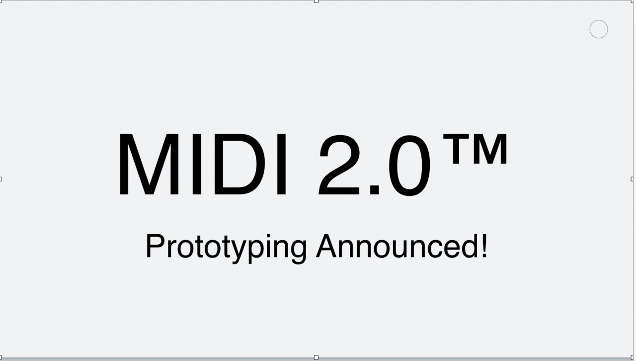 The MIDI Manufacturers Association (MMA) and the Association of Music Electronics Industry (AMEI) announce MIDI 2.0™ Prototyping